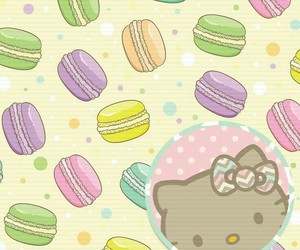 background, colorful, and hello kitty image