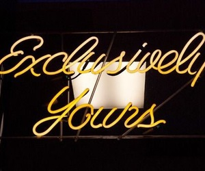 neon, yellow, and sign image