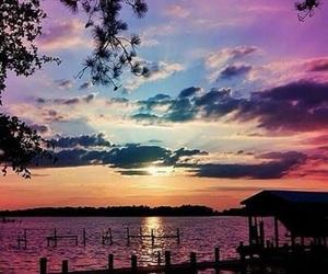 calm, nature, and sunrise image