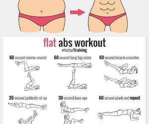 abs, workout, and flat tummy image