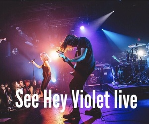 concert, hey violet, and bucket list image