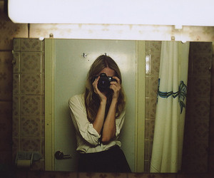 camera, girl, and self image