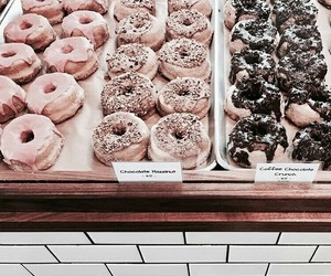 donuts, food, and rose gold image