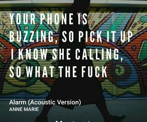 alarm, fuck, and Lyrics image