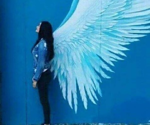blue, angel, and girl image