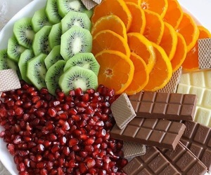 food, chocolate, and FRUiTS image