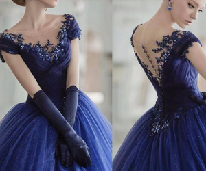 fashion, long dress, and prom dress image