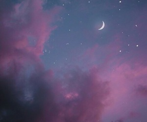 background, galaxy, and moon image