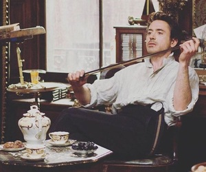 sherlock holmes, jude law, and movie image