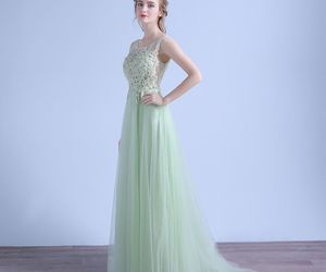 evening dresses, girls, and tulle image
