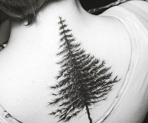 black, black and white, and tattoo image