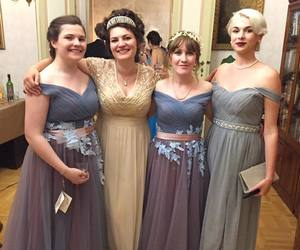 ball, dress, and friends image