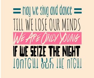 Lyrics, the wanted, and we own the night image
