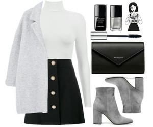 black&white, coat, and grey image