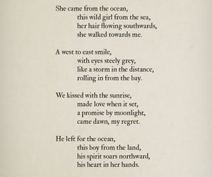 mermaid, poem, and love image