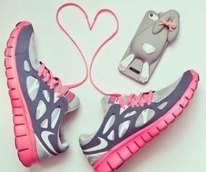 nike, iphone, and pink image