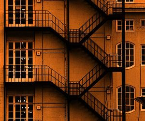 orange, building, and aesthetic image