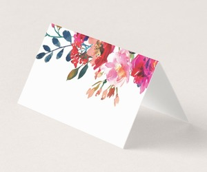 elegant, floral, and Place cards image