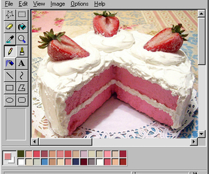 aesthetic, cake, and paint image