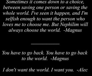 magnus, alec, and love image