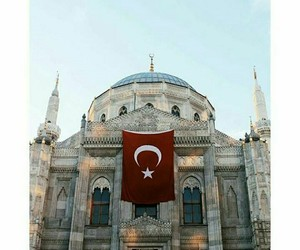 flag, islam, and mosque image