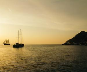 Greece, sunset, and santorini image