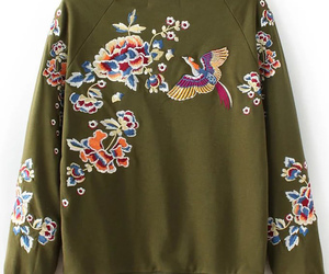 embroidery, fashion, and floral print image
