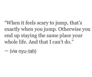 quotes, life, and jump image