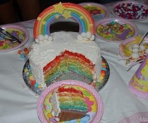 cake, grunge, and rainbow image