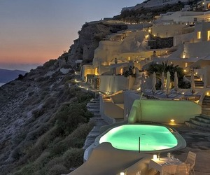 santorini, travel, and Greece image