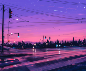 background, lights, and street image