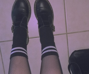black, doc martens, and edgy image