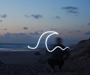 waves, beach, and sea image