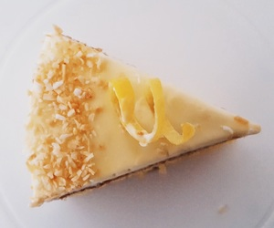 cake, coconut, and lemon image