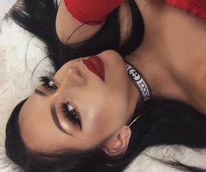 dress, makeup artist, and girl girls makeup image