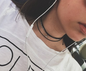 earings, earphones, and hipster image