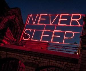neon, red, and sleep image