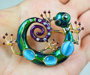 brooch, gecko, and pin image