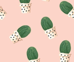 cactus, pattern, and wallpaper image