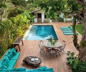 pool, house, and home image