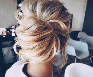 hairstyle, beauty, and blonde image