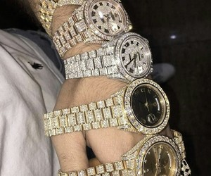 gold, jewerly, and watch image