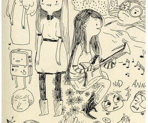 art, doodles, and adventure time image