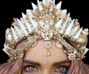 crown, eyes, and gold image