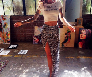 tattoo, art, and outfit image