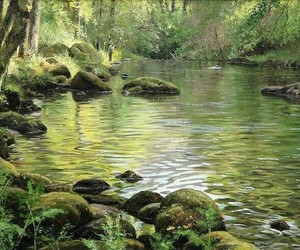 art, nature, and river image