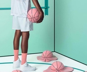 pink and Basketball image