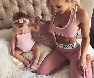 baby, family, and pink image
