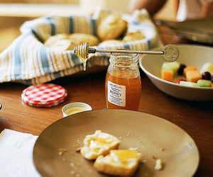 food, honey, and breakfast image