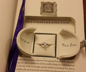book, ring, and harry potter image